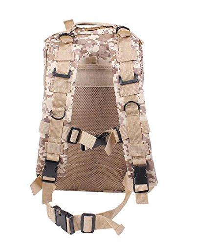 Zaino Outdoor 3P Attacco Di Combattimento Attacco Borsa Camouflage Alpinismo Pacchetto Multifunzionale Di Assalto , Black desert number