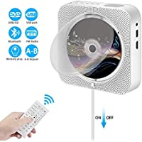 DVD CD-Player,VICELEC Bluetooth DVD CD Player mit Fernbedienung,Integrierte HiFi-Lautsprecher,Unterstützung USB/HDMI/MP3/FM/RCA (Silber)