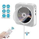 Lecteur CD Portable, Mur Montable Lecteur DVD/CD Bluetooth Mural Bluetooth avec...