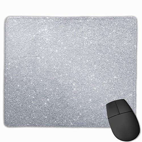 Bling Diamond Style Sliver Pattern Personalized Design Mauspad Gaming Mauspad with Stitched Edges Mousepads, Non-Slip Rubber Base, 300 x 250 x 3 mm Thick - Best Gift Idea Blue Diamond Bling