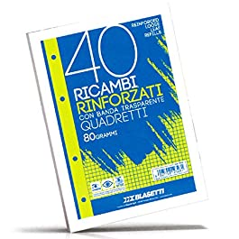 30 confezioni da Ricambi 4 fori Rinforzati A4 40 fogli 5M