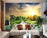 BGRWE 3D muro stagno ponte di legno paesaggio murale 3D sfondo muro soggiorno camera da letto decorazione della parete A3