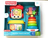 Fisher Price Classics Geschenk Set Blocks Set, Telefon und Stacker