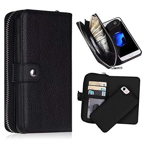Samsung Galaxy S5 Hülle, Samsung Galaxy S5, Leder, Reißverschluss, Magnetverschluss, Geldbörse, iPhone 8 (Case S5 Sprint Wallet Phone)