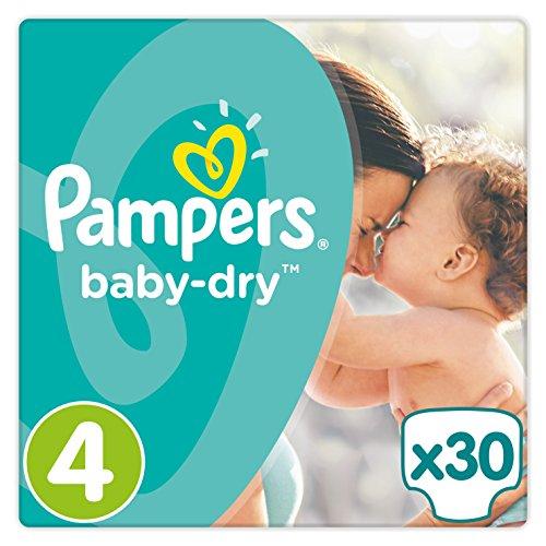 Pampers Baby-Dry Gr. 4,8-16kg, 30Windeln, 4er Pack (4 x 30 Stück), 1 Packung = 1 Impfdosis