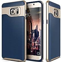 Funda Galaxy S6 Edge Plus, Caseology® [Serie Wavelength] Duradero Antideslizante Gota de Protección [Azul Marino] para Samsung Galaxy S6 Edge Plus (2015) - Azul Marino