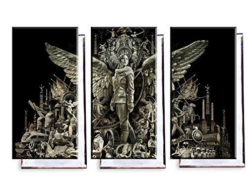 The Hunger Games Catching Fire - Dreiteiler (120x80 cm) - Bilder & Kunstdrucke fertig auf Leinwand aufgespannt und in erstklassiger Druckqualität ()