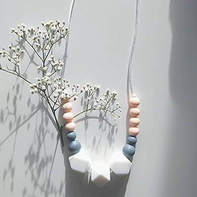 Cadeau de naissance -Collier d'allaitement, de Portage et de Dentition - Lily Rose Poudré