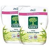 L'arbre Vert Pack de 2 Recharges Lessive Liquide Savon Végétal 2 L...