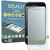 2 x Disagu FullFlex film de protection pour film Samsung Galaxy A3 (2017) (Film de protection d'écran se pose sur mesure écran aux bords arrondis)
