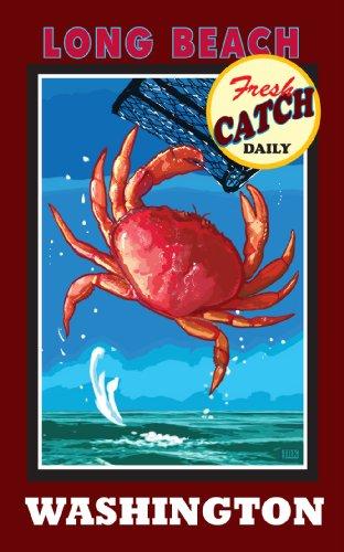 Northwest Art Mall Long Beach Washington, Dungeness Crab, ungerahmt, Poster von Joanne Kollman, 28 x 43 cm