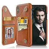 Lohasic Coque iPhone XS, iPhone X Housse Portefeuille, 3 Emplacements Étuis Cuir...