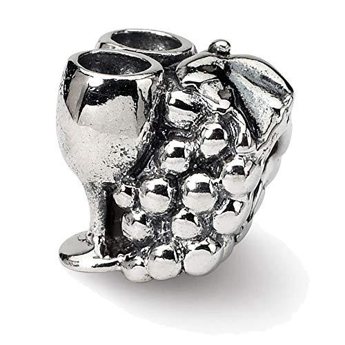 Lex & LU Sterling Silber Reflexionen Trauben & Brille Perlen
