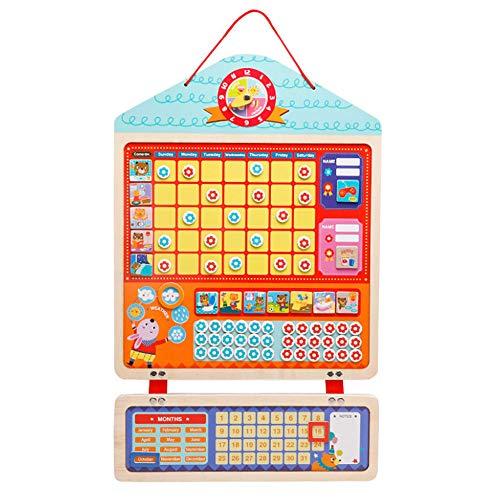 Magnetische Belohnungstabelle für Kinder, gutes Verhalten und Hausarbeit zum Lernen von Regeln 42 magnetische Blumen und 1 x trocken abwischbare Marker, 12 x magnetische Aufgaben, Holz, 24x15Inch (Regel-chart)