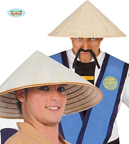 Asiatischer Strohhut (HUT - CHINESE -, Asien asiatisch vietnamesisch China Vietnam Stroh)