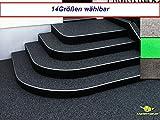 madeinnature Außen Teppich | Nadelfilz Teppich, GUT-Siegel, emissions- und geruchsfrei, wasserabweisend |Bodenbelag im Freien | Größe wählbar | ® (200 x 200 cm, Anthrazit)