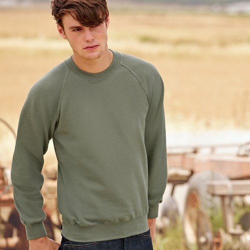 Fruit of the Loom, Sweat-Shirt Homme - Classic Olive