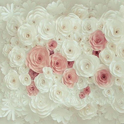 Baby Dusche Fotografie Hintergrund weißer Blumenblumen Hintergrund für Brautparty Hochzeits Nachtisch Tabellen Wand Dekoration D-7467
