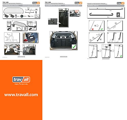 Travall® Guard Hundegitter TDG1409 - Maßgeschneidertes Trenngitter in Original Qualität -