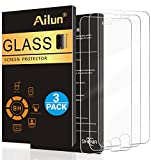 Ailun 3 Stück Panzerglas für iPhone 7/iPhone 8/iPhone 6s/iPhone 6 Gehärtetes Glas Displayschutzfolie, 0.29mm, 9H Härte, Anti-Kratzen, Anti-Öl, Anti-Fingerabdruck, Blasenfrei, Screen Protector Glass