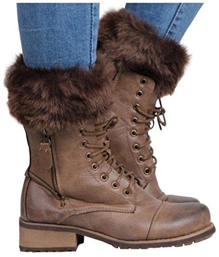 Zaywind Damen Winter Beinwärmer Stricken Gestrickt Beinstulpen Socken Beinlinge Boot Manschette (Bein-wärmer Gestrickte)