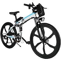 Mymotto Bicicleta de montaña plegable, 26 pulgadas, eléctrica (hasta 25 km/h