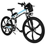 cooshional bicicletta pieghevole elettrico 26V Mountain Bike bianco lega di alluminio potenza: sotto 500W
