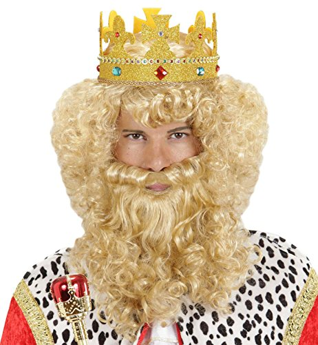 WIDMANN Peluca de sovrano con barba y bigote, Rubia