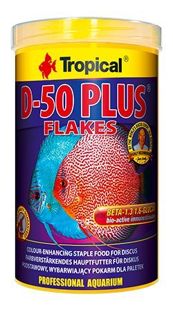 Diskus Flake d-50Plus 250ml/50g colour-enhancing sich mit hoher (50%) Proteingehalt