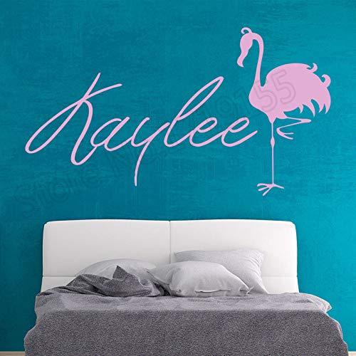 dtattoo Kinder Personalisierte Name Mädchen Schlafzimmer Vinyl Wandaufkleber Für Kinderzimmer Cartoon Decor Kunstwand D 75x42 cm ()