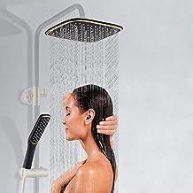 LEF Wasserfall Duschkopf, Luxus quadratisch Überkopfbrause Regenduschkopf - Hohe Druck Wasserspar Handbrause Dusche Regendusche -(Der Brausehalt ist nicht enhalten )