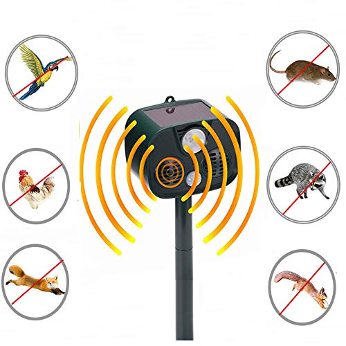 er und Haustier Fahren Outdoor Camping Alarm LED abweisend wasserdichte Moskito/Tier Abschreckung Katze/Hund/Waschbär/Eichhörnchen/Maulwurf/Maus ()
