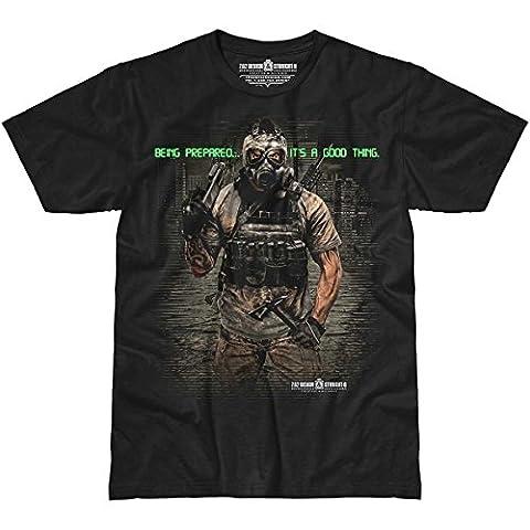 7.62 Design Hommes Being Prepared T-Shirt Noir taille M