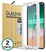 Bovon pellicola vetro temperato iPhone X, 100% trasparente ed alta sensibilità, proteggi lo schermo da graffi, e impronte digitali.Protegge lo schermo Molto sottile(solo 0.33mm)ma molto duro, con durezza 9H, fornisce una protezione perfetta p...