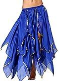 Röcke Damen Blau Knielang Bauchtänzerin Kostüm