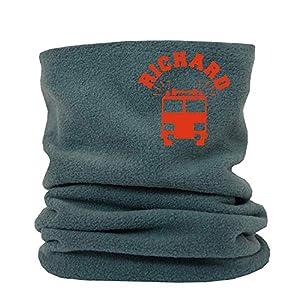 SupaRina personalisierter Loop-Schal mit Feuerwehr und Namen Rundschal Schlauchschal Headgear für Jungen Kinder Babys Fleece unterschiedliche Farben und Motive nach Wahl Eisenbahn Krankenwagen Polizei