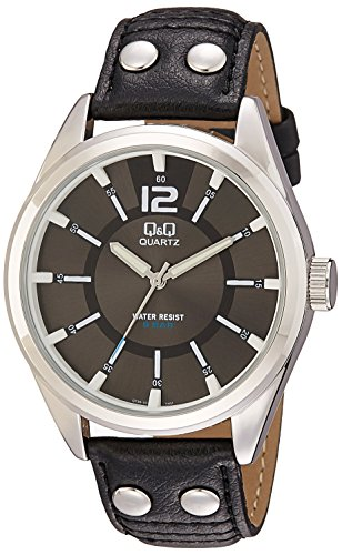 Q&Q Standard Analog Black Dial Men's Watch Q736J302Y image