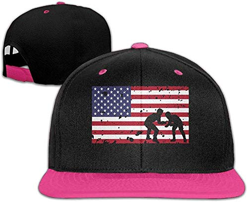 uytrgh American Flag Wrestling Unisex Hiphop Flat Brim Snapback Caps Contrast Color Baseball Caps Women cowboy20668