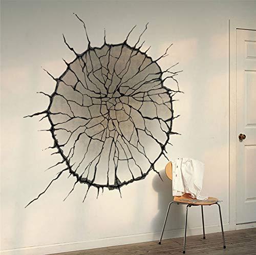 (LQWE 3D Wandaufkleber Wand Crackles Aufkleber Wohnzimmer Dekorationen Kreative 3D Home Decals Print Wandbild Kunst Landschaft Landschaft Poster)