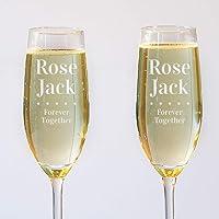 Lot de 2 Flûtes à Champagne Personnalisables - Couple