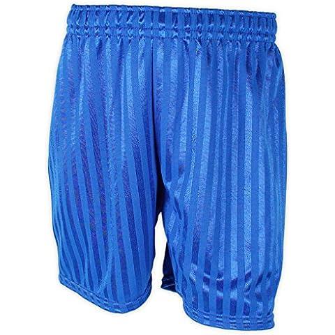 PlsMum School Uniform Shadow-Pantaloncini calcio, Unisex, motivo a righe in polietilene, misura media, da uomo, colore: blu reale