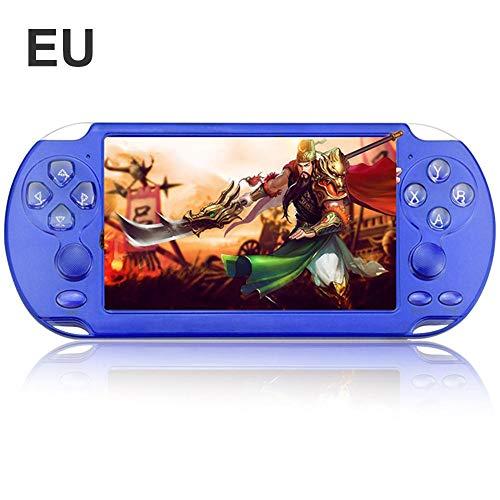 """Aerries - Consolle da Gioco Portatile, Schermo colorato, Puzzle per Bambini, Console di Gioco Portatile da 5,1\"""", PSP Double Rocker, X9-s 8G Retro Game Console Blu"""