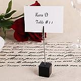 Dproptel 20Stücke Tischkartenhalter Memo Clip Halter Ständer Foto Clip Tabelle Zahl Halter Name Kartenhalter für Hochzeit Party Haus Dekoration