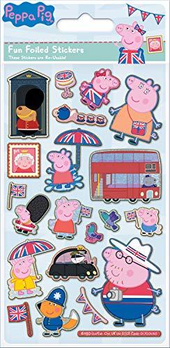 .06.145 Peppa Pig Glorious Britain Folien-Aufkleber-Set ()