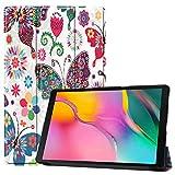 HoYiXi Coque pour Samsung Galaxy Tab A 10.1 2019 Mince Cuir Smart Cover Étui de Protection Coquille Étui à Tablette pour 10.1 Pouces Samsung Galaxy Tab A 2019 T510/T515 - Papillon Coloré
