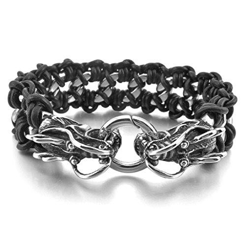 adisaer-acier-inoxydable-gourmette-hommes-bracelet-charms-dragon-noir-argent-tresse-gothique-biker