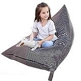 Eurobuy Pouf poire pour enfants, adolescents et adultes, siège confortable, sac de rangement pour jouets de 200 l