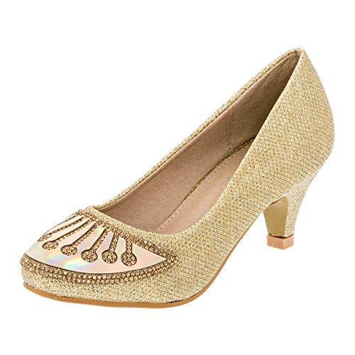 chöne Mädchen Schuhe in 4 Farben (34, 135go3 Gold) (Prinzessin Schuhe)