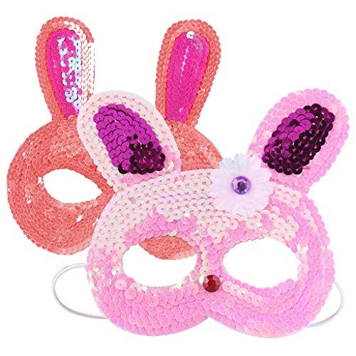 Amycute 6 Stück Kinder Masken Hase Tiermotiv Ostern Maske Augen Masken Maskerade Maske Venezianischen Masken für Cosplay Party Masquerade im Alter von 3 bis 12 Jahre alt.