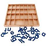 MagiDeal Montessori Alfabetos Movibles Caja Letras Madera Juguete Educativo para Niños